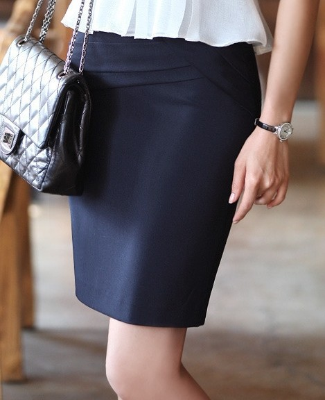 Navy blue pencil skirt knee length – Modern skirts blog for you