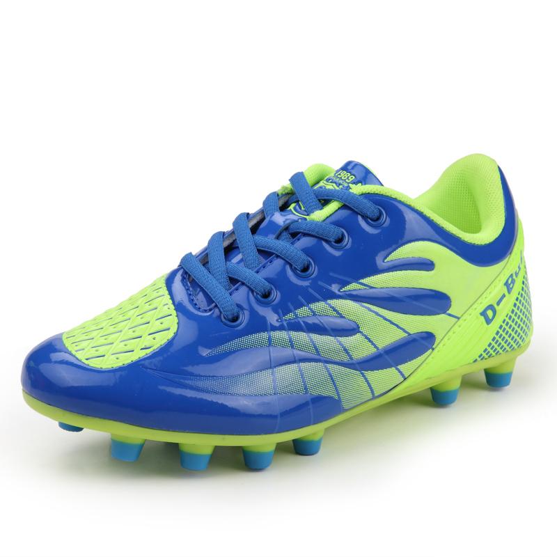 2016 Mens Football Shoes Original Soccer Cleats Boots Boy Blue/Green Boots Football Soccer Trainers Cheap Mens Football Boots(China (Mainland))