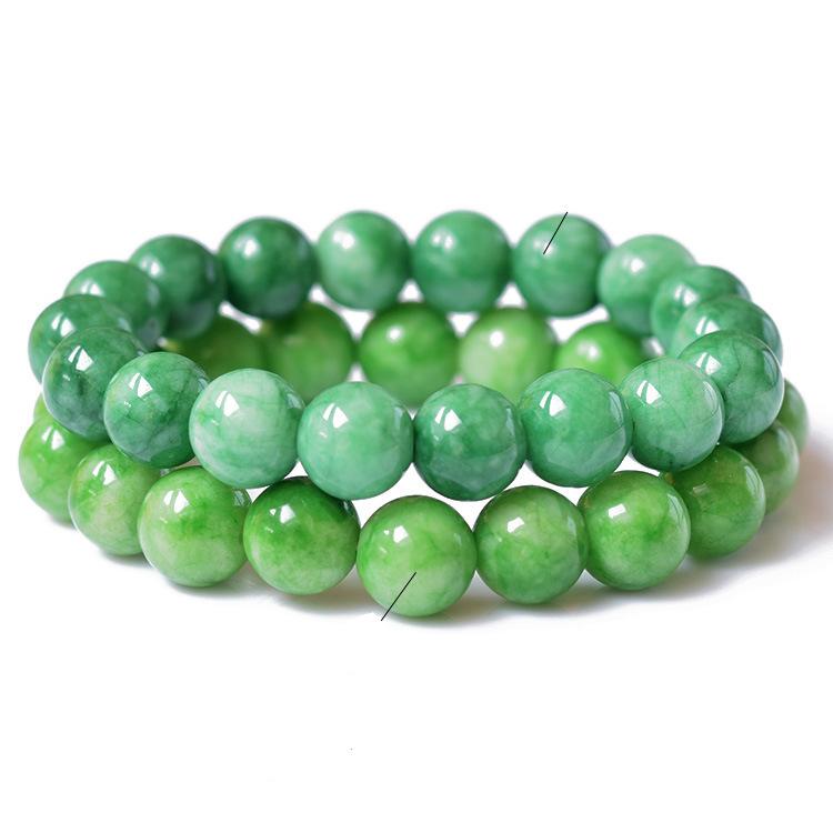 Bracelet Natural Stone Green Jade Jewelry Bracelets For Women Diy Handmade Love Gift Strand Beaded Bracelet for Women(China (Mainland))