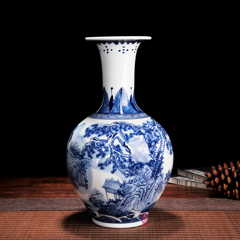 Online buy wholesale paint glass vases from china paint for Decorating with blue and white pottery