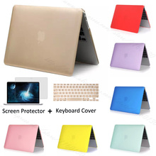 Cristal / Matte Case pour 2015 New Apple MacBook 12 polegada cas protecteur + couvercle du clavier + Film de protection écran(China (Mainland))