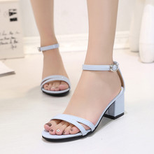 2016 Fashion Summer Brand Loafers Bohemia Shoes Women Soft Leather Sandals High Heel Pumps Thick Heel