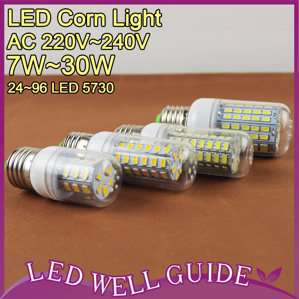 LED Lamp LED E27 E14 Led Light 3W 5W 9W 12W 15W 25W SMD 5730 LED 220V 110V LED Corn Bulb Bombilla Ampoule Lampada de(China (Mainland))