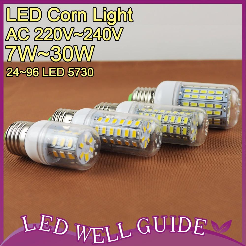 LED Lamp LED E27 E14 Led Light 3W 5W 9W 12W 15W 25W SMD 5730 LED 220V 110V LED Corn Bulb Bombilla Ampoule Lampada de(China (Mainland))