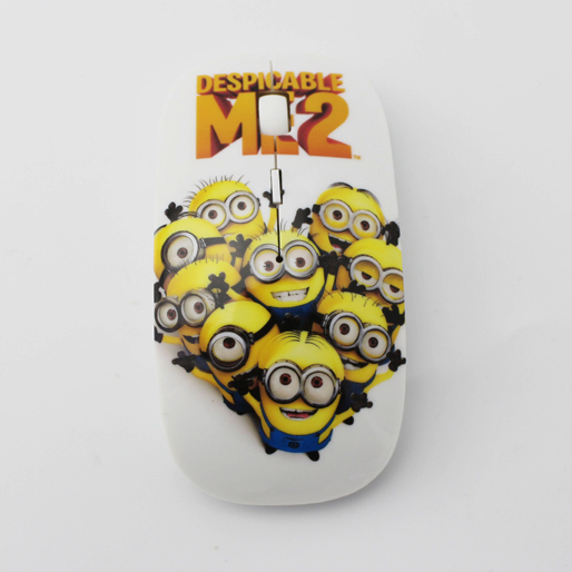 New 2015 Wireless Mouse despicable me 2 mouse with 2.4G USB receiver optical mice for computer 1200DPI 3D mini cheap mice(China (Mainland))