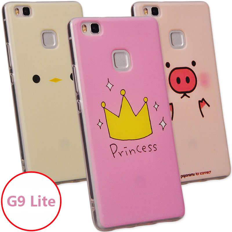 Women Cute cartoon painting soft silicon case Huawei P9 Lite G9 5.2 inch  -  ShenZhen MRB store store