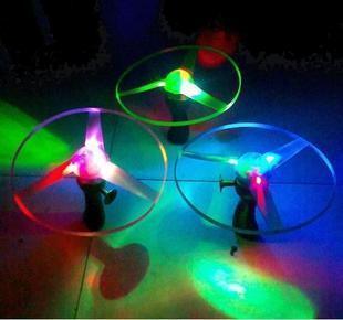 Luminous backguy flash electronic lamp big flying saucer ufo frisbee 25cm toy(China (Mainland))