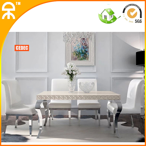 (1 table +4 chair )1.35 m modern white glass dining table set furniture #CE-983-T(China (Mainland))