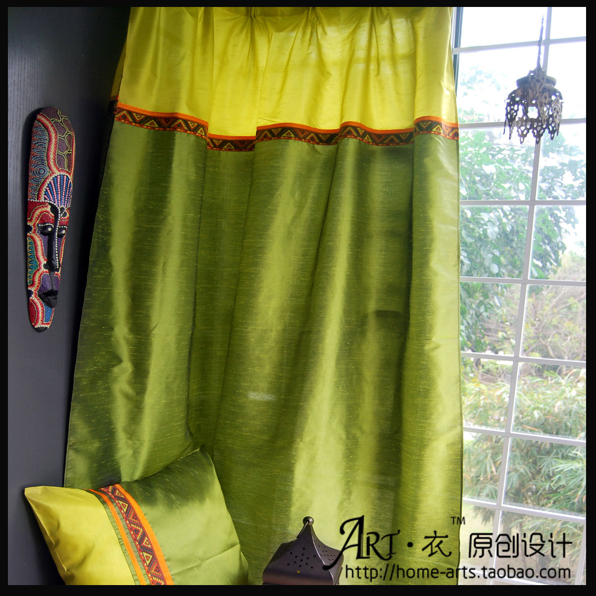 Piaochuang curtain floor dodechedron finished products customize curtains