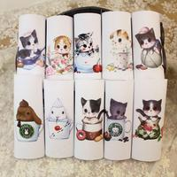 cute cats Canvas Hand-Dyed Printed Fabric Diy Handmade Sewing Craft Patchwork Scrapbooking Fabric For Purse Bag