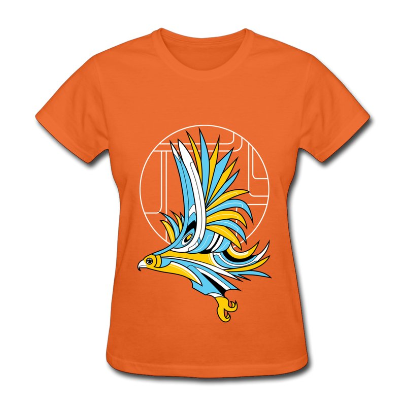 womens t shirt regular hawk art deco design woman t shirts