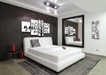4142 handbemalte 5 st ck schwarz wei moderne abstrakte for Wand kunst wohnzimmer