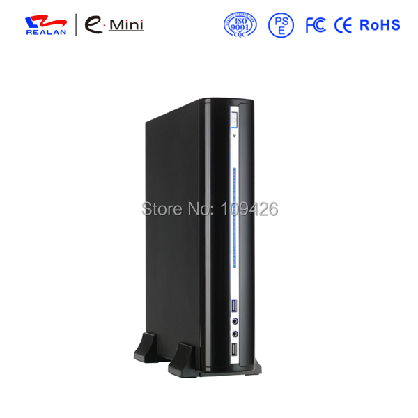 Realan Silver and Black Horizontal Micro ATX Computer Case 2007 C, Vertical Mini ITX Case Micro ATX Desktop PC Case(China (Mainland))
