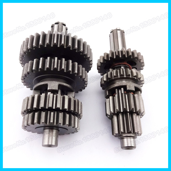 YX110 125 Transmission Super Gear Box Main Counter Shaft For 110cc 125cc YX Pit Dirt Bikes Motorcycles(China (Mainland))