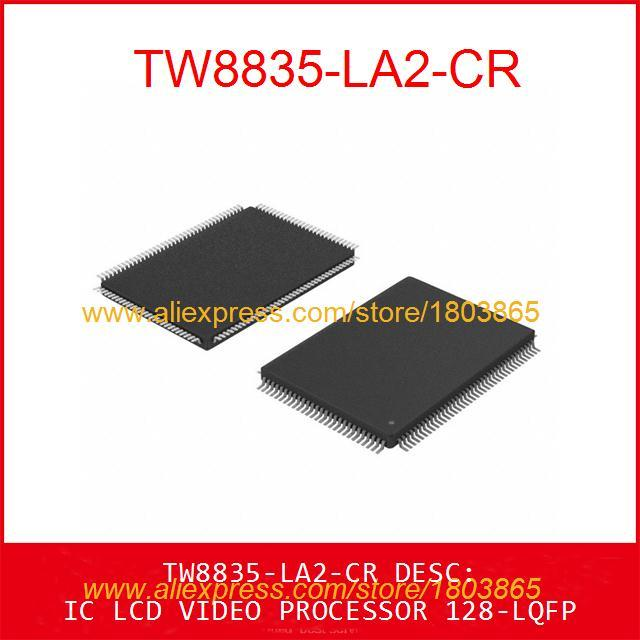 Free Shipping Hot Sell Integrated Circuits Original TW8835-LA2-CR IC LCD VIDEO PROCESSOR 128-LQFP 8835 TW8835 1pcs(China (Mainland))