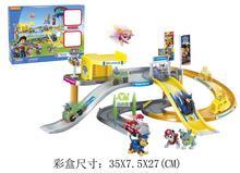 BP1512183 Anime DIY Police Station Scene Parking Juguetes Patrol Toy Car Dog Anime Figure Minifigures Patrulla Canina Toys