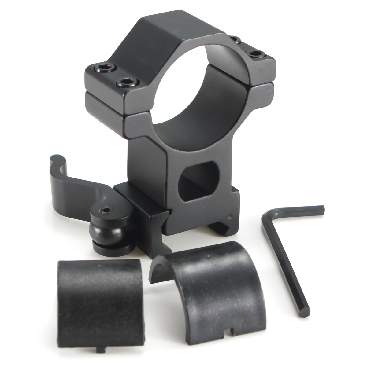 Excellent quality Tactical High Profile 30mm Scope Rings Weaver Picatinny Rail Mount For Rifle+25mm Scope Ring Adapter+Wrench
