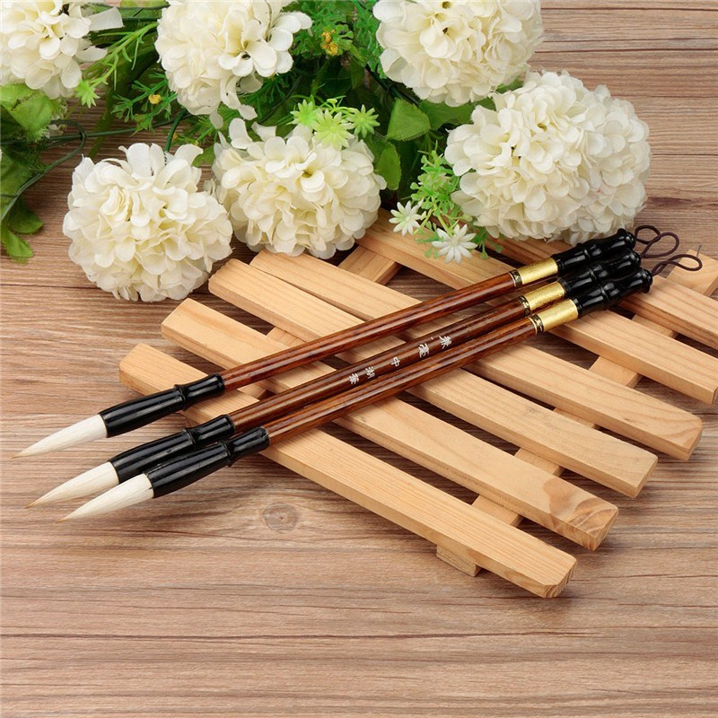 3pcs/set Excellent Quality Chinese Calligraphy Brushes Pen for Woolen and Weasel Hair Writing Brush Fit For Student School<br><br>Aliexpress