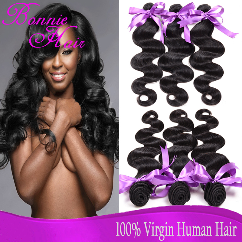 6A Brazilian Virgin Hair 4 Bundles Body Wave Cheap Brazilian Body Wave Human Hair Virgin Brazilian Hair Weave Bundles Extensions(China (Mainland))
