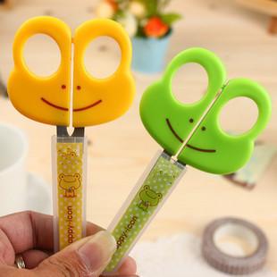 2 pcs / lot children stationery art Scissors Decorative Craft school DIY Scrapbook Handmade Kids Artwork Card Safe Scissors(China (Mainland))
