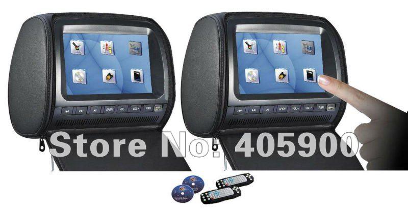 neue 9 zoll hd touchscreen kopfst tze auto monitor 2 dvd player mit. Black Bedroom Furniture Sets. Home Design Ideas