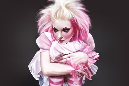 art artistic cg digital women females girls babes blonde uniform emo <font><b>gothic</b></font> dress sensual face <font><b>Home</b></font> <font><b>Decoration</b></font> Canvas Poster