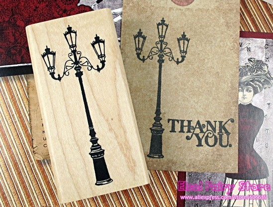 Wholesale DIY Lovely Wooden Stamp Street Lamp Stamp 12pcs /lot Free shipping<br><br>Aliexpress