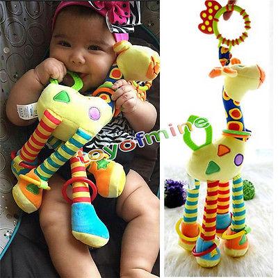 Handbells Developmental Toy Bed Bells Kids Baby Soft Toys Rattle Christmas Gift(China (Mainland))