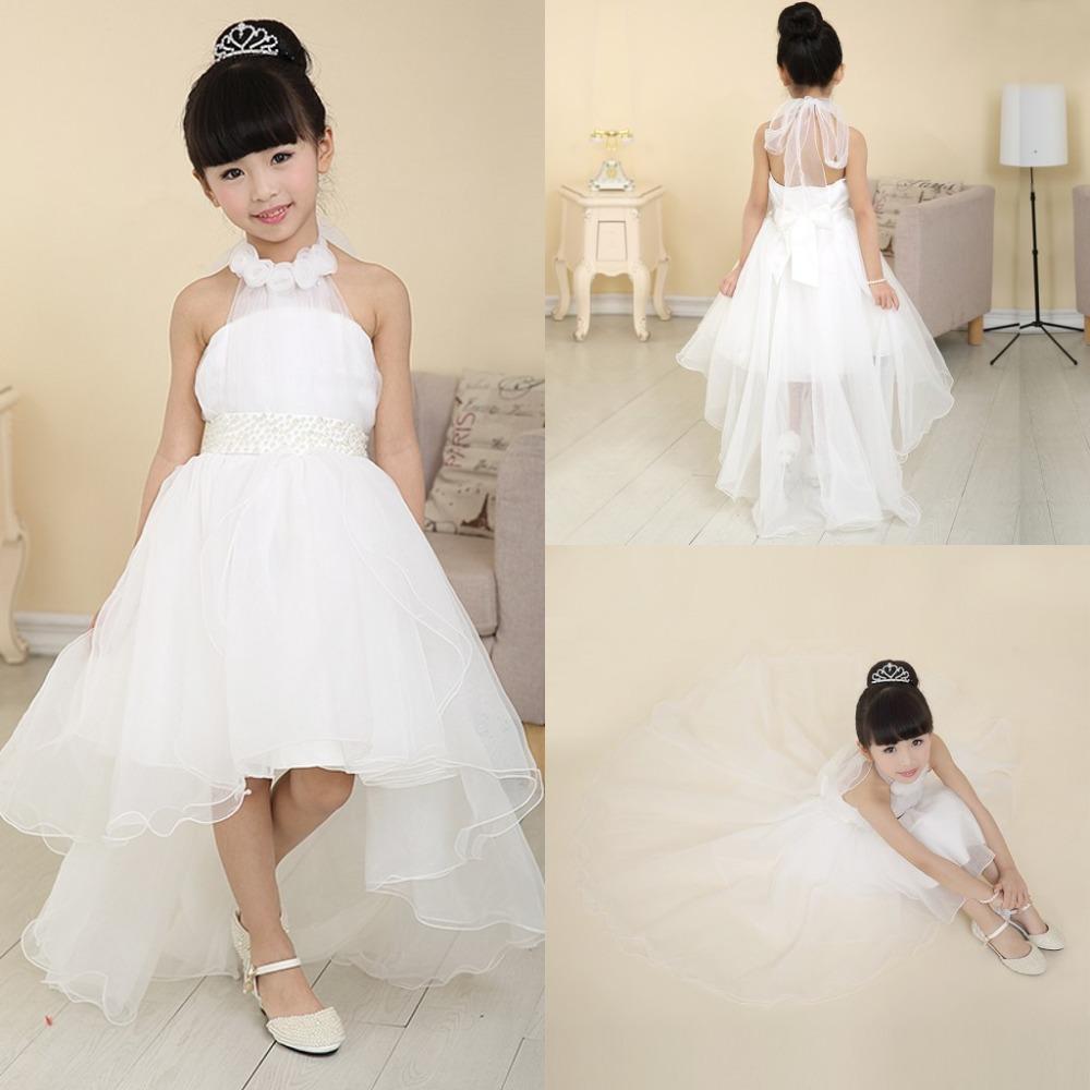 Little Girls Long White Flower Girl Dresses Wedding Dresses Online