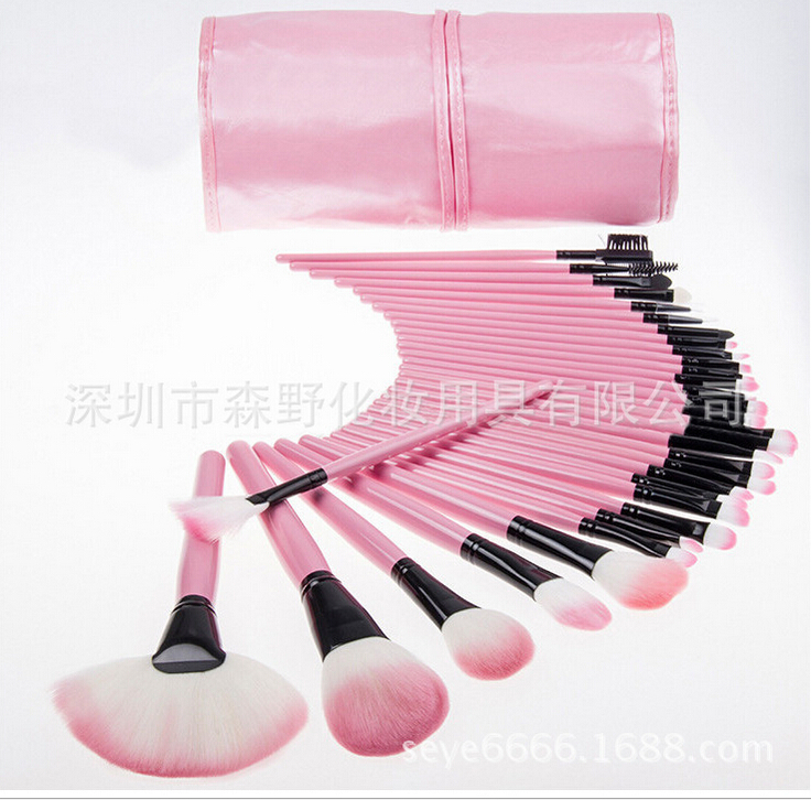 @ new Fashion Hot Sale Beauty Cosmetic Brushes Makeup Brush Set 24Pcs/Set Good Quality Hair Round Box Replace Mac(China (Mainland))