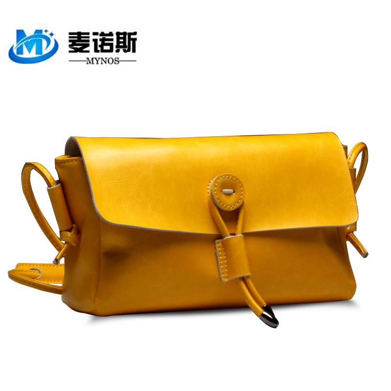 2016 NEW BRAND 100% Cowhide Genuine Leather Crossbody Women Bags Vintage Small Pillow Casual Messenger Female Handbags