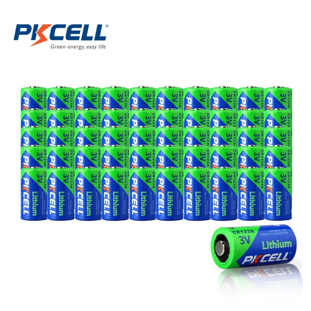 50Piece CR123A CR123 CR 123 123A 16340 CR17345 17345 1500mah 3V Non Rechargeable Lithium Batteries(China (Mainland))