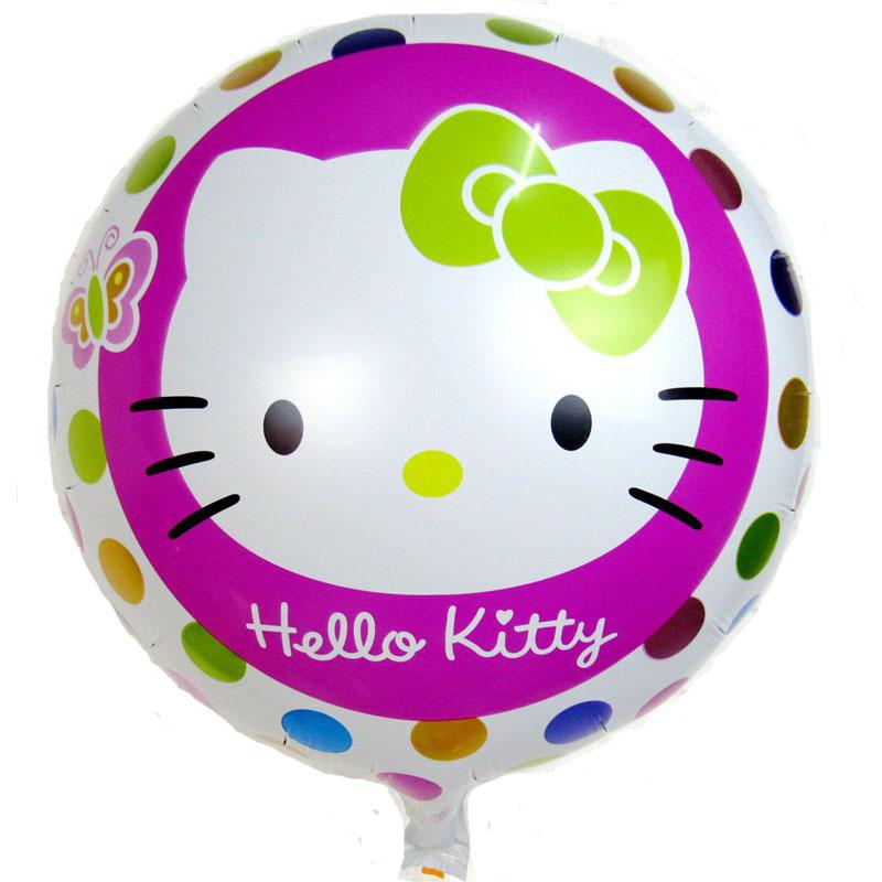 Lucky 10pcs/lot 18inch Cartoon Hello Kitty Balloons Lovely Cat Foil Balloon Aluminum Helium Ballon Party Wedding Decorations Toy(China (Mainland))