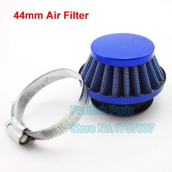 Air Filter Steel 44mm Blue Cleaner For 47cc 49cc Mini ATV Quad Dirt Pocket Bikes Go Karts Moped Scooter(China (Mainland))