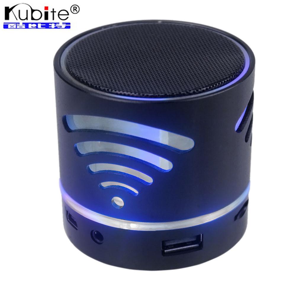 KubitePortable Mini Bluetooth Speaker Wireless Boombox Speakers LED Light Stereo Handsfree Speaker With Mic For iphone Samsung(China (Mainland))