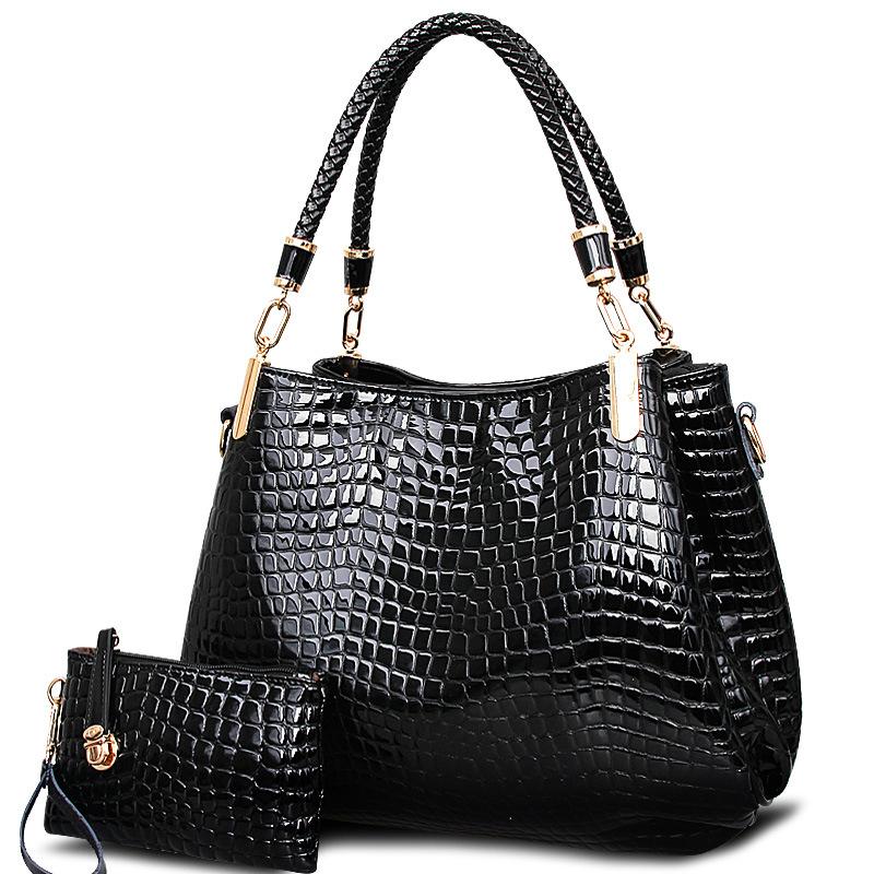 Ms. Bai Shi Ze 2015 new tide bag crocodile pattern big bag large capacity bag handbag Shoulder Messenger<br><br>Aliexpress