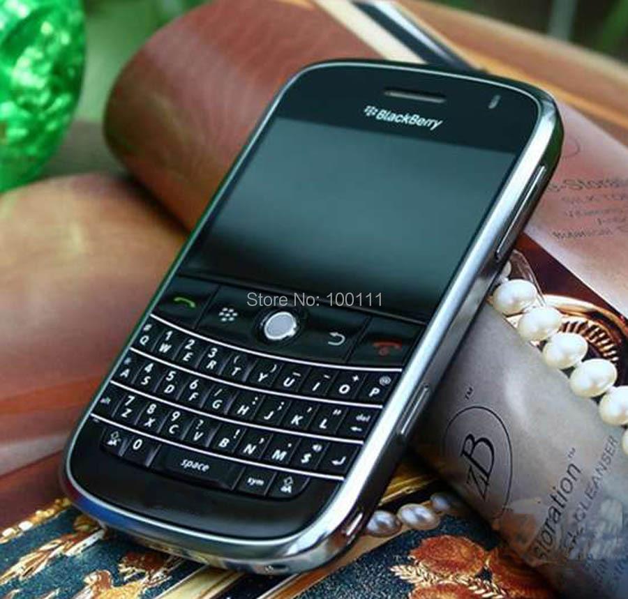 9000 Original BlackBerry Bold 9000 Cell Phone QWERTY Keyboard ( Black) Mobile Phone Free shipping(Hong Kong)