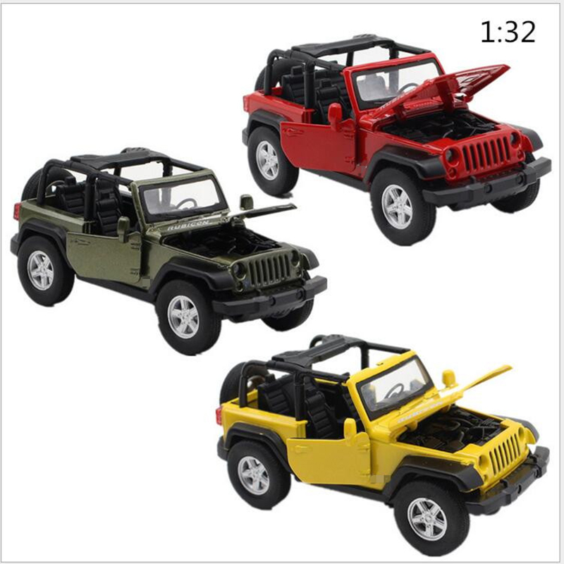 2016 New Child Educational Toys Simulation Alloy Car Models 1:32 Wrangler Convertible Sound And Light Alloy Pull Back Car x282(China (Mainland))