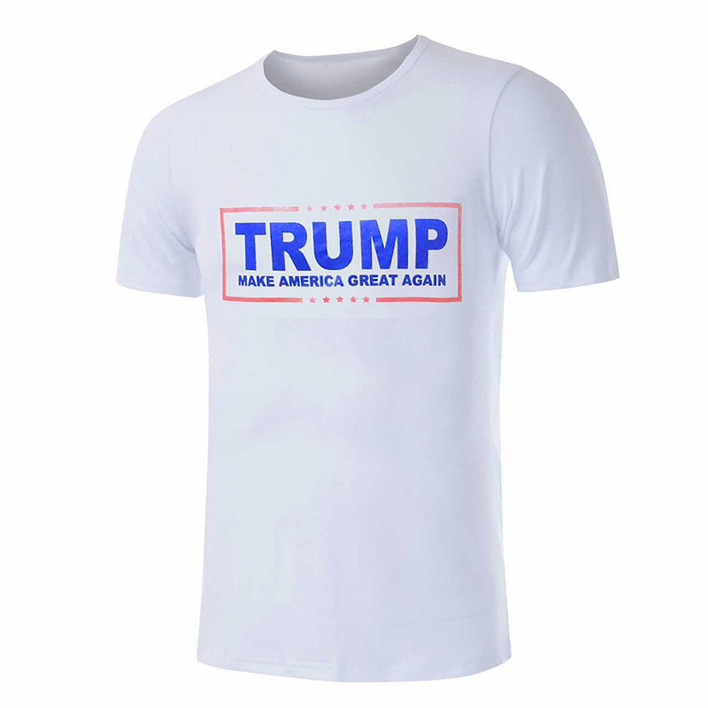 100% Cotton Men Make Amercia Great Again T shirt Men Summer Short Sleeve Tees Tops Letter Printed Trump Shirts(China (Mainland))