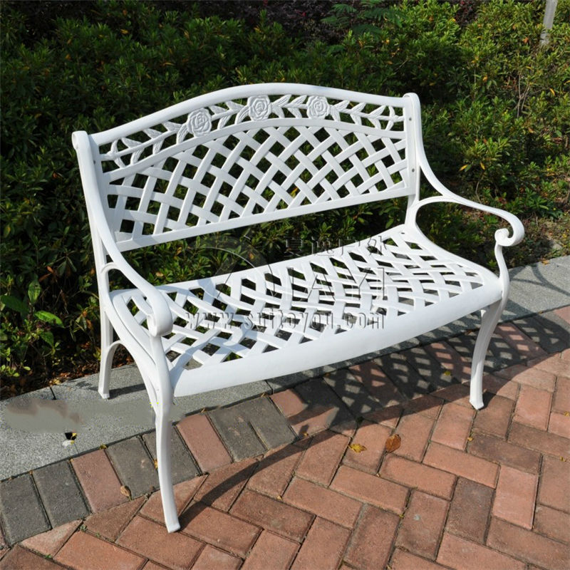 Здесь можно купить  2 seater cast aluminum luxury durable park chair garden (bench white ,anti gold)  Мебель