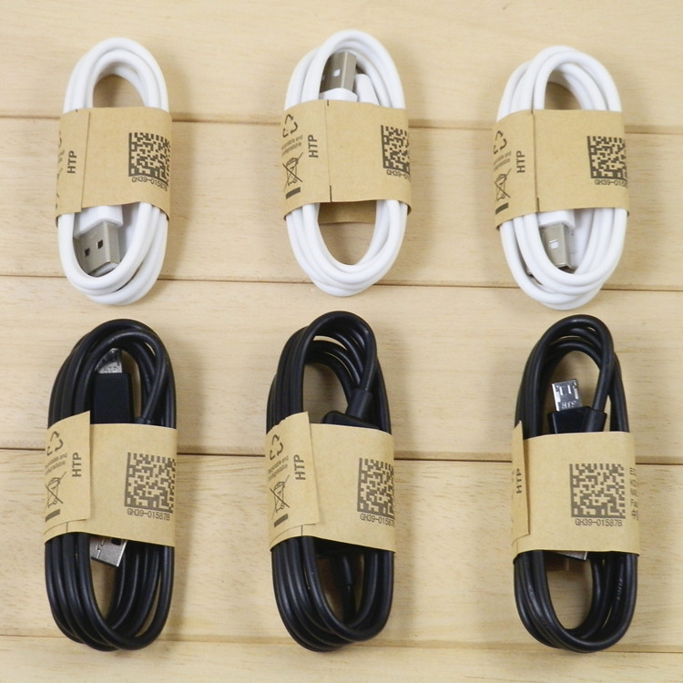 Wholesale REAL 5000PCS/lot universal original quality micro usb data charger cable 1m for cell phone factory drop shiping(China (Mainland))
