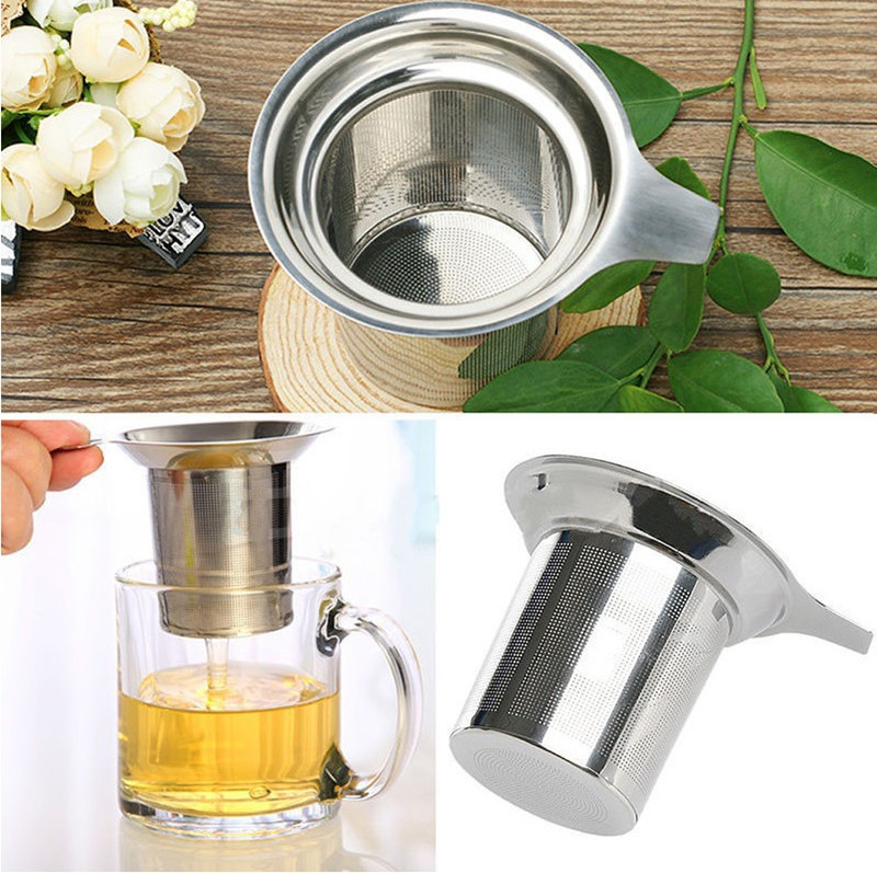 Stainless Steel Mesh Tea Infuser Reusable Strainer Loose Tea Leaf Spice Filter(China (Mainland))
