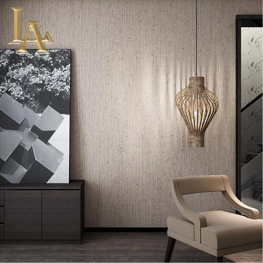 Buy vintage beige brown vertical striped for Striped wallpaper living room ideas
