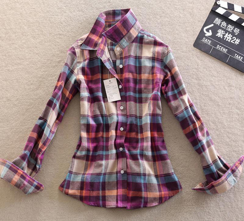 13 color red plaid flannel shirts cell green checkered for Where to buy cheap plaid shirts