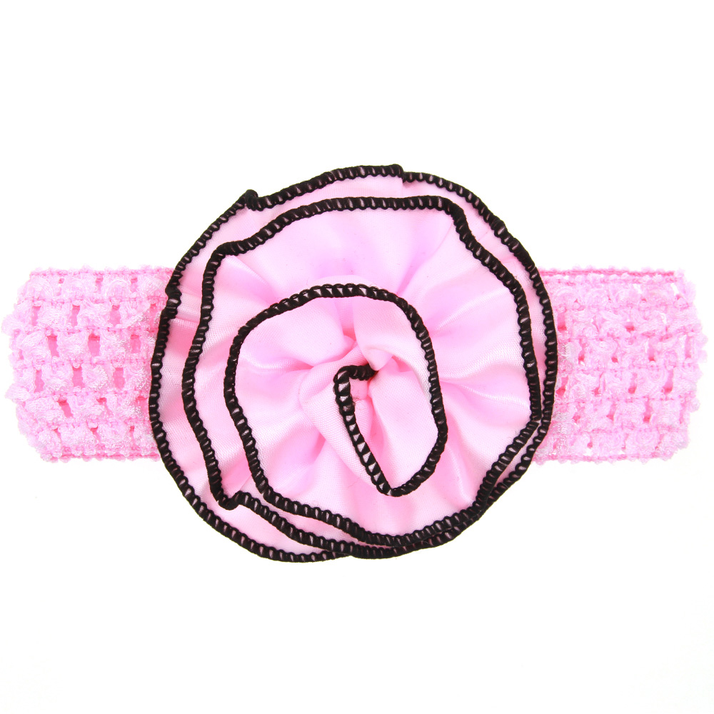 Baby crochet flower hair band girls hair bows hair accessories perfect GIFT accessory(China (Mainland))