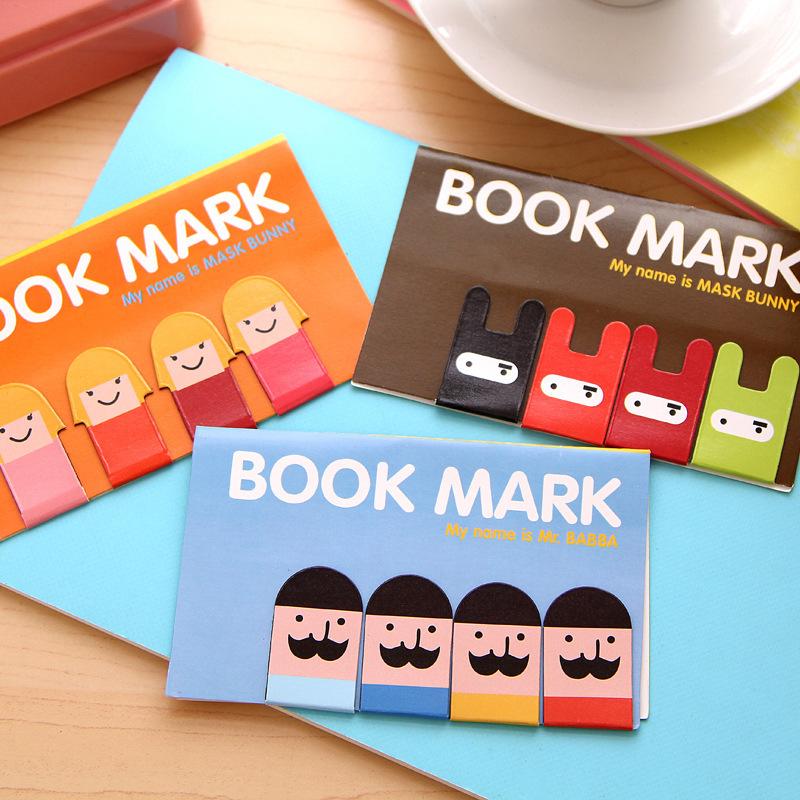 6set/lot Magnet bookmarks funny boy girl books marker Magnetic page holder marcador de livro materials School supplies(China (Mainland))