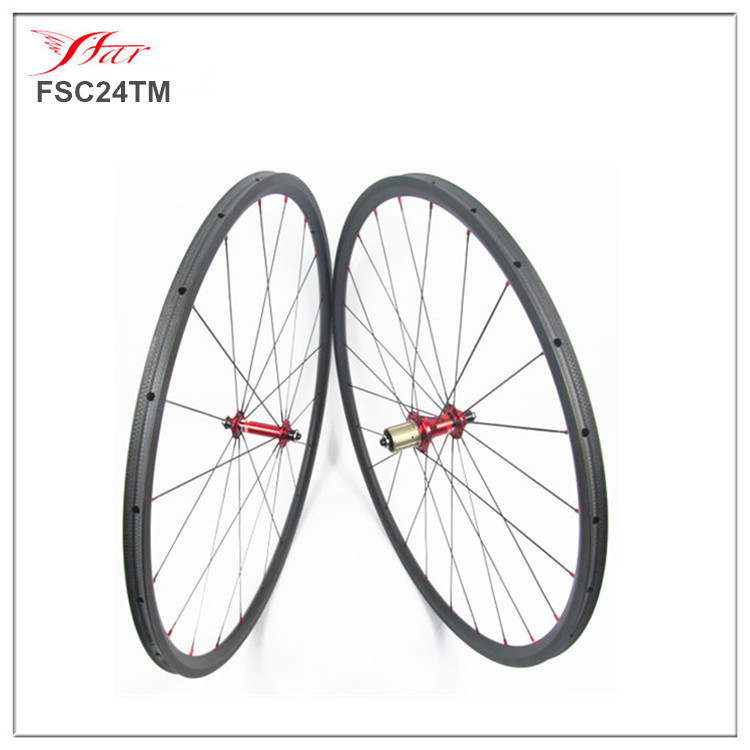 Cheap chinese carbon wheelset 24mmx23mm clincher rims with high temp braking surface Novatec carbon wheelset 700C<br><br>Aliexpress