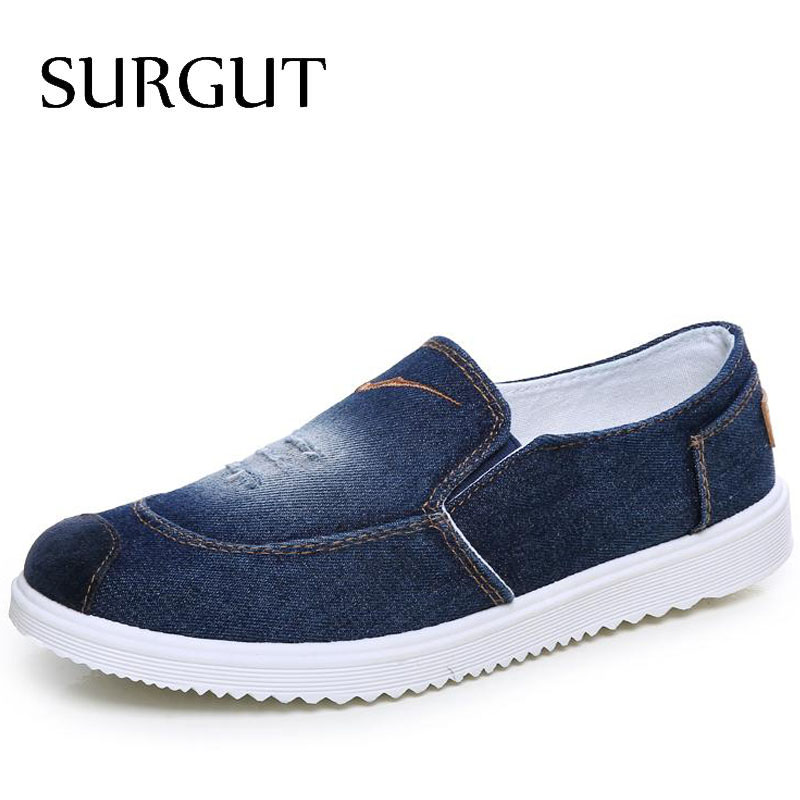Fashion Shoes Spring And Summer Men Canvas Shoes High Quality Stylish Thick Sole Men Casual Comfortable Brand Denim Shoes(China (Mainland))