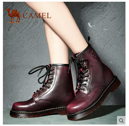 Фотография camel leather Ying Lun Mading couple models boots  new winter fashion trends for men and women