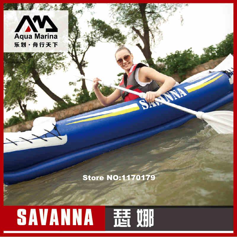 Free shipping Aqua Marina 1+1 presons inflatable kayak canoe292*80cm, 2 Aluminium paddles, air pump, carry bag, repair kit(China (Mainland))
